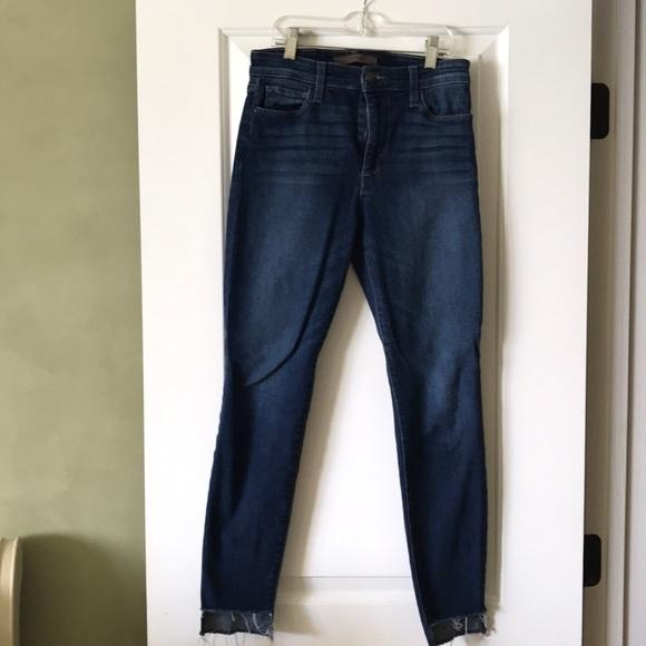 Joe's Jeans Denim - Joe's High-Rise Dark Wash Jean w/ unhemmed leg